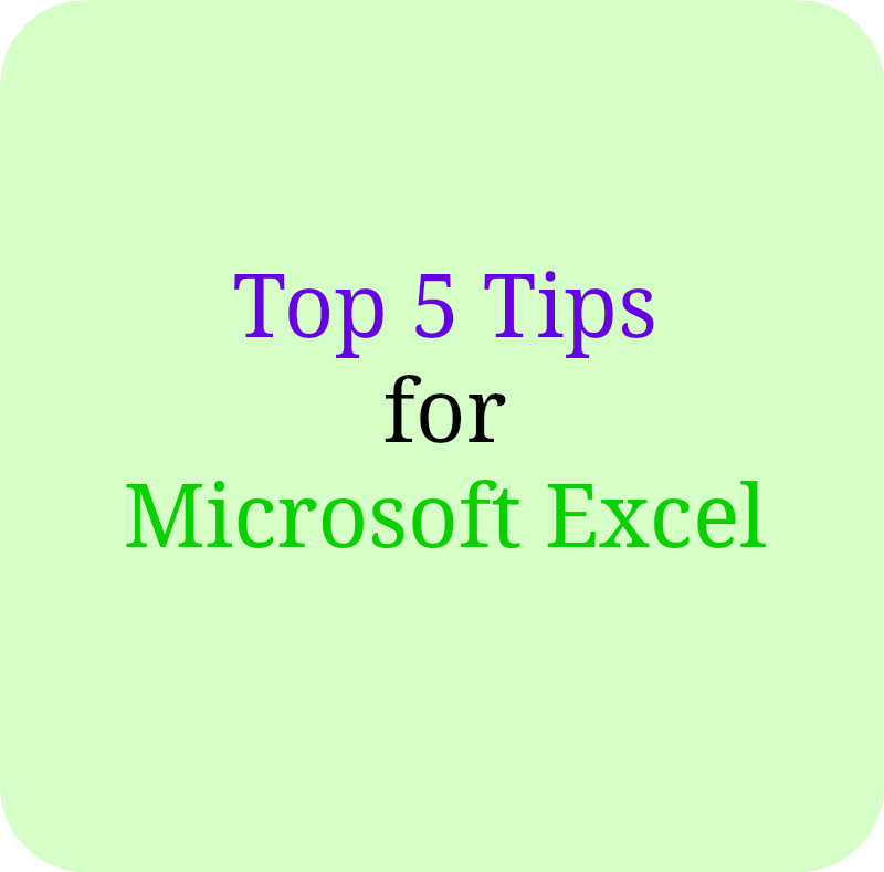 Top-5-excel-tips